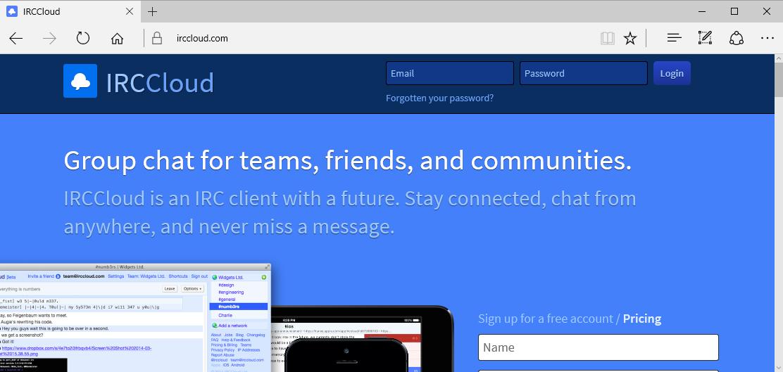 IRCCloud.com Home Page